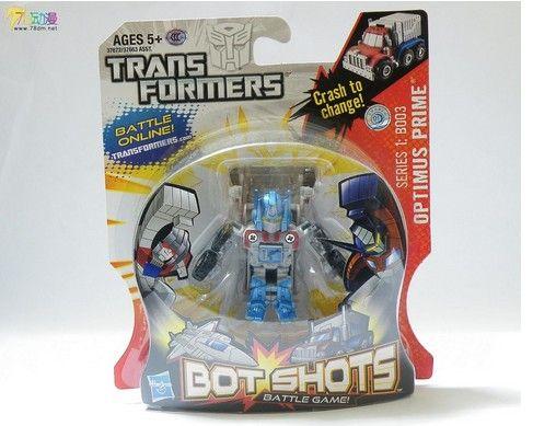 the u.s. version of botshots q version hasbro transformers touch small diamond optimus boxed spot #transformer