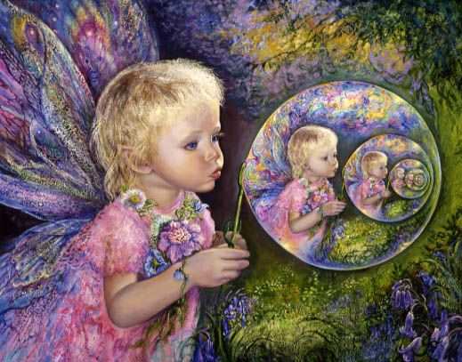Fairy Bubbles by Josephine Wall