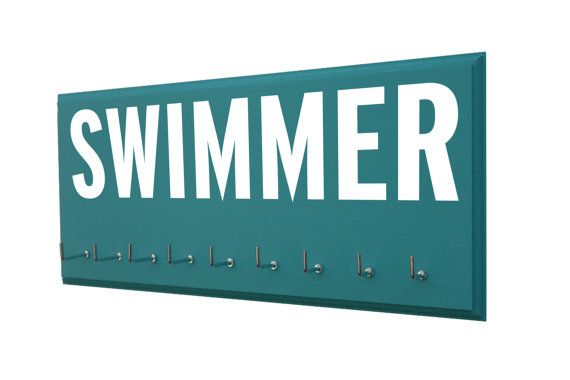 Swimming: Use a awards display rack to display your swimming