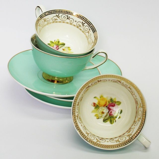 Christiana 'Vintage' Teal Cup and Saucer