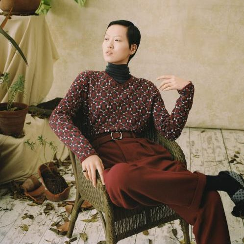Our classic roll neck, Catkin featured in The Sunday Times Style Magazine