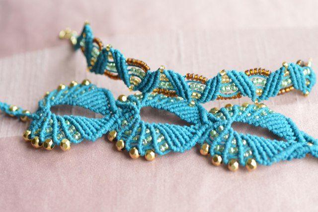 Knots that turn into beautiful bracelets.