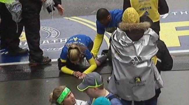 VIDEO: Bombing survivor Rebekah Gregory crosses marathon finish - Boston News, Weather, Sports   FOX 25   MyFoxBoston