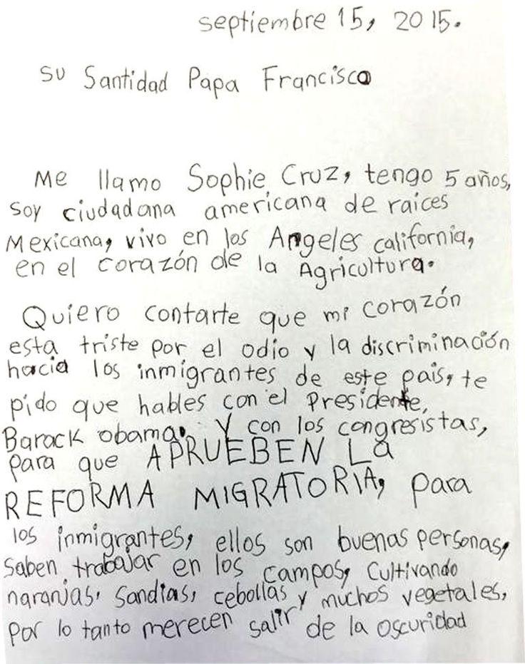 El plan detrás de Sophie Cruz, la niña inmigrante que sorteó la seguridad del Papa Francisco   Papa Francisco en Estados Unidos, Barack Obama, Estados Unidos, Inmigración, inmigrantes, Papa Francisco - América
