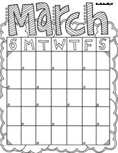 Cute Printable Calendars---I'm thinking for students' take home folders , keep them organized, reminder of when projects are due.