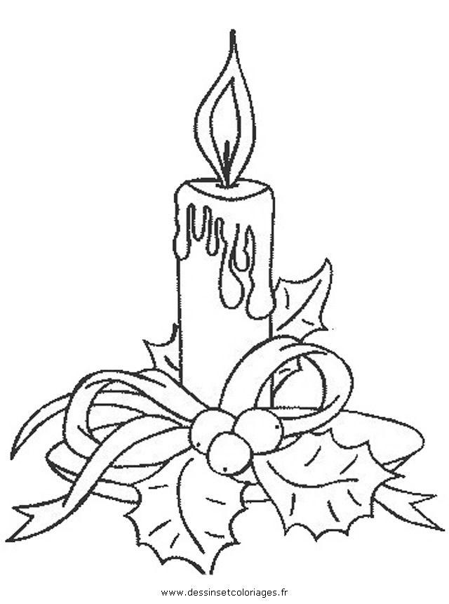 Рождественская свеча рисунок