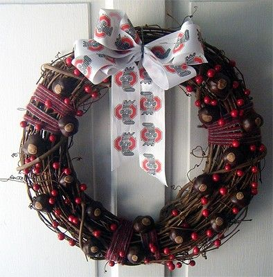 17 best images about buckeye crafts on pinterest scarlet for Craft wreaths for sale