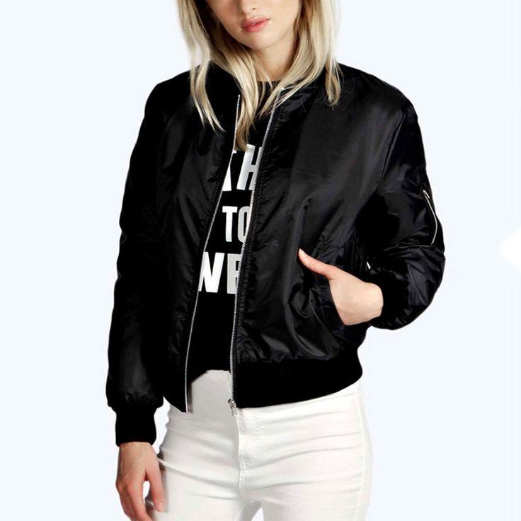 Women-Lady-Casual-Fashion-Zipper-Jacket-Overcoat-Trench-Parka-Outwear-Coat