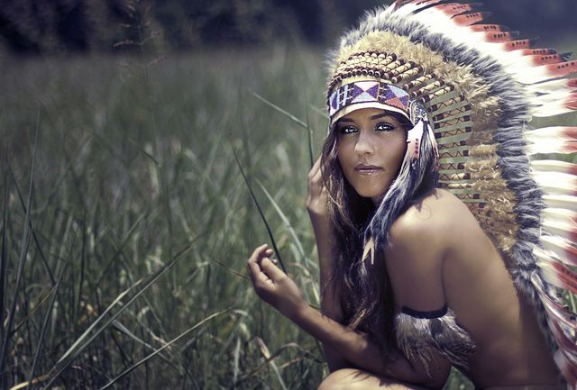 girl with indian head dress | Recent Photos The Commons Getty Collection Galleries World Map App ...