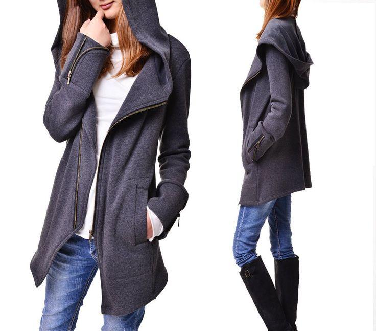 Black swan - thick cotton fleece jacket