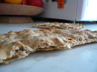 Azyme Bread detail / Barley flat bread (with some wheat)