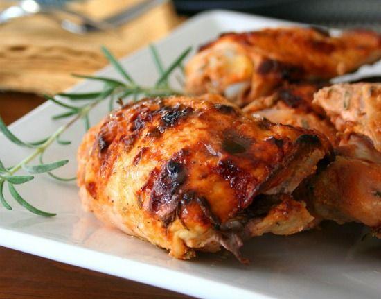 Crispy Rosemary Sriracha Chicken Thighs recipe