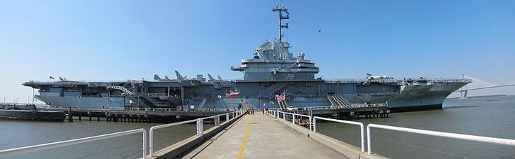 USS Yorktown ~  Same class of ship that Daddy was in in WWII.  We toured the Yorktown together in the late 1980's.