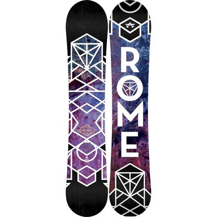 All-mountain shredding is the name of the game when you're strapped into  the Rome Women's Gold Snowboard. This highly versatile freestyle shred  stick features an almost twin shape, meaning it's centered between the  contact points but has a slightly longer nose to aid in powder  floatation. Its MtnPop Rocker profile is the most versatile Rome's  line-up with rocker underfoot for a loose playful feel in the park, plus  the ability to plane through deep snow without submerging your nose. ...