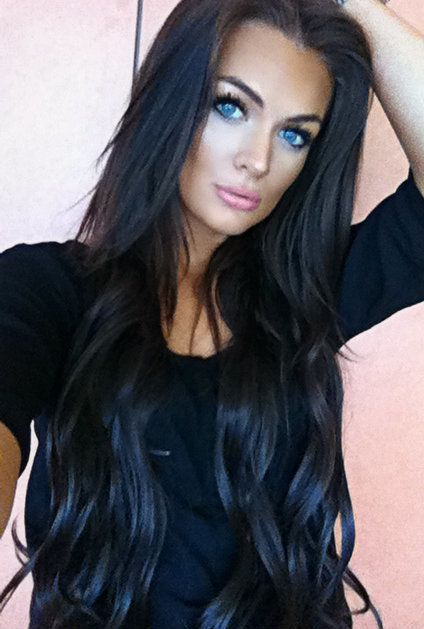blue eyes with dark hair