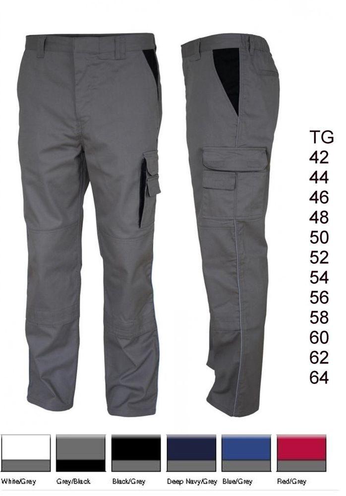 CARSON Pantaloni da lavoro Comode tasche multiuso Lavabile 60° Taglie forti