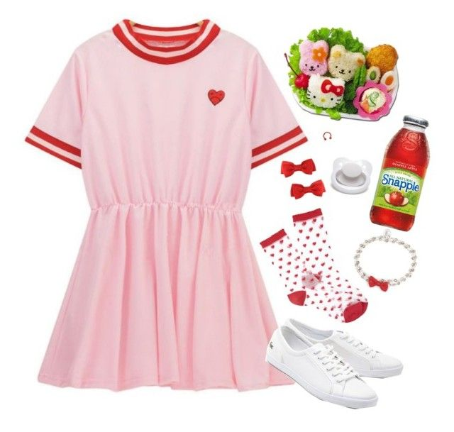 """Day in the park"" by ali-the-gr8 ❤ liked on Polyvore featuring Hello Kitty, Forever 21, OSCAR Bijoux and Lacoste"