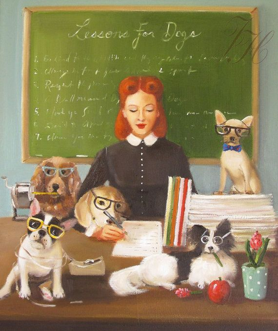 Miss Moon Was A Dog Governess  Lesson Seven  by janethillstudio