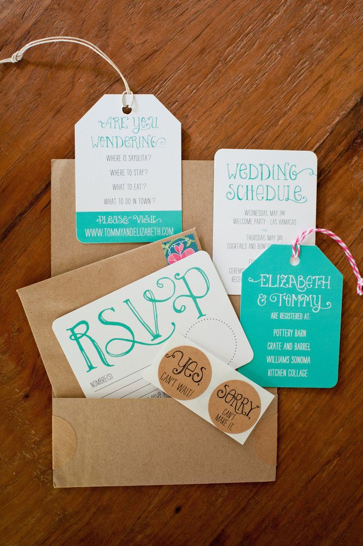 Bright and fun wedding invitations destinationwedding 86
