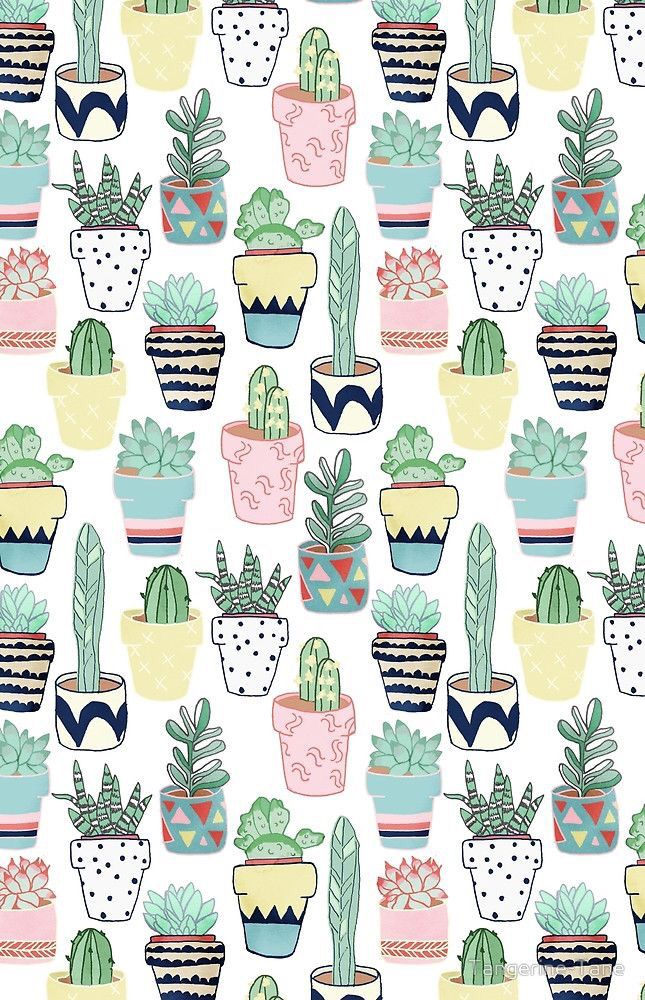 Wallpaper de cactus, plano de fundo para celular. Pinterest: @giovana