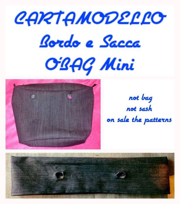 Cartamodello (carta modello) bordo e sacca interna obag mini di TitaHandmadeshop su Etsy