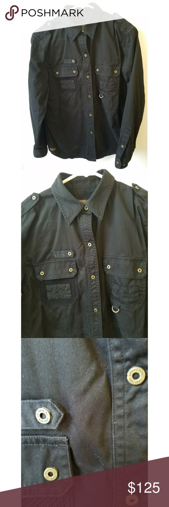 """Ralph Lauren Field Button Down Fishing Jacket * Worn / Excellent Condition  * 100% Cotton Lightweight, Black WOMENS Jacket From Ralph Lauren Features Many Button Snaps And Two Front Chest Pockets  *  """"Ralph Lauren Quality Field Tested Products"""" Ralph Lauren Jackets & Coats"""