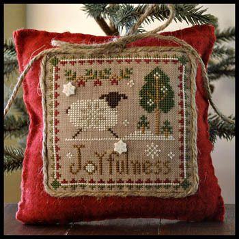 ~ Joyfulness ~ Little Sheep Virtues....Little House Needleworks #12....