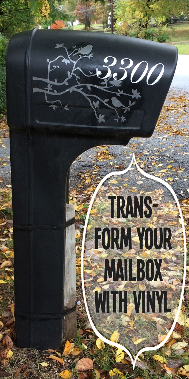 Plastic Mailbox Makeover With Vinyl Decal C4rlylynn