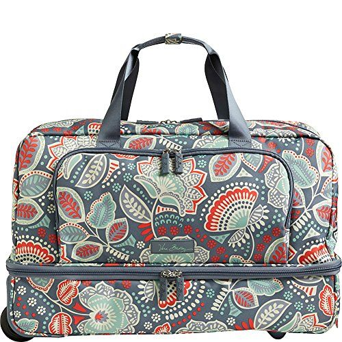 Vera Bradley Luggage Women's Lighten Up Wheeled Carry-on Nomadic Floral Carry On
