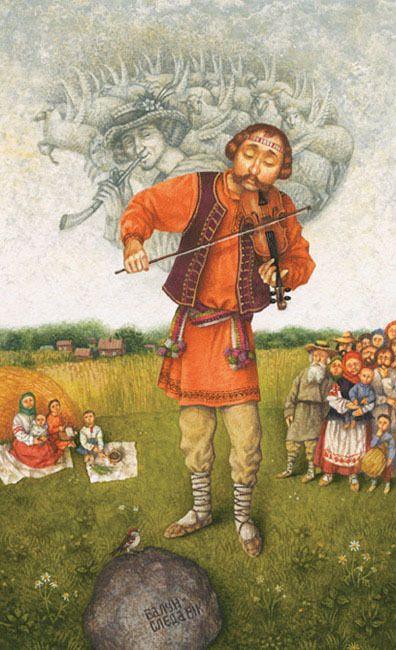 Yury Kruglikov  Illustration for Belarusian Folk -Tale