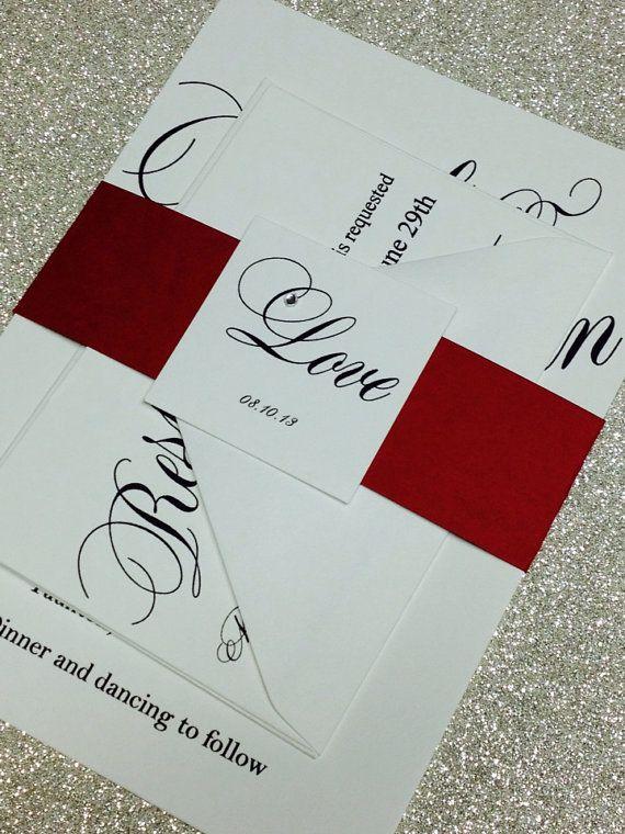 Fancy script wedding invitation bat mitzvah or anniversary party on Etsy, $3.10
