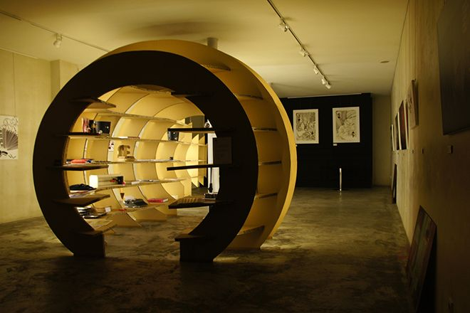 Objectivos: divulgar novos talentos e conjugar uma loja com uma galeria de arte