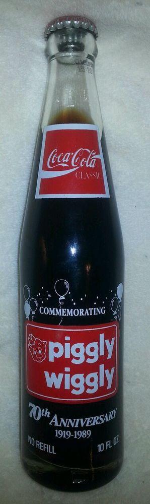 Piggly Wiggly Commemorative Coca Cola Bottle 70th anniversary