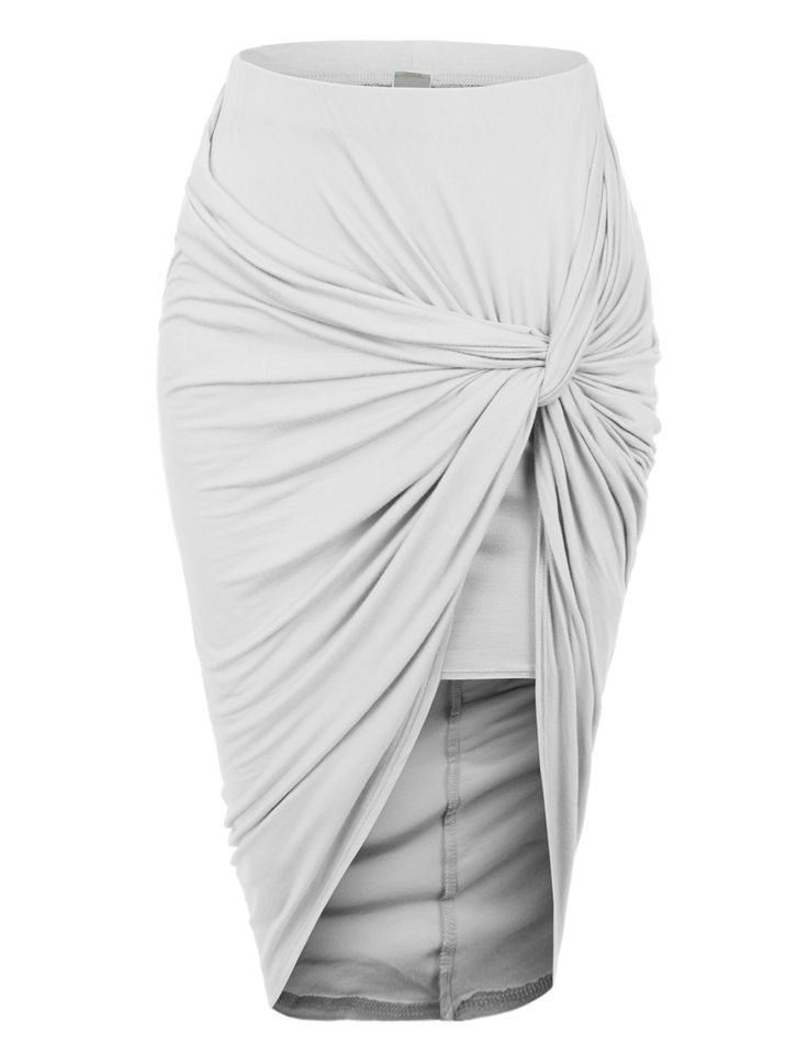 Wrap yourself in this super asymmetrical banded waist wrap cut out hi low maxi skirt. Wear this super comfortable skirt to the beach as a swimsuit cover up and go for drinks at night with some heels. Don't be afraid to show off your legs this summer! Feature 95% Rayon / 5% Spandex Soft, stretchy material for comfort Features shorter skirt for coverage wrapped up in asymmetrical fabric for style / Elastic waist / No closure Dry clean or hand wash cold Made in U.S.A Please look at the…
