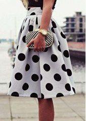 Polka Dot Skirt – 1Deebrand #fashion #beauty #skirts #shorts #ladies #dress #ladiesdress #womensfashion #1deebrand