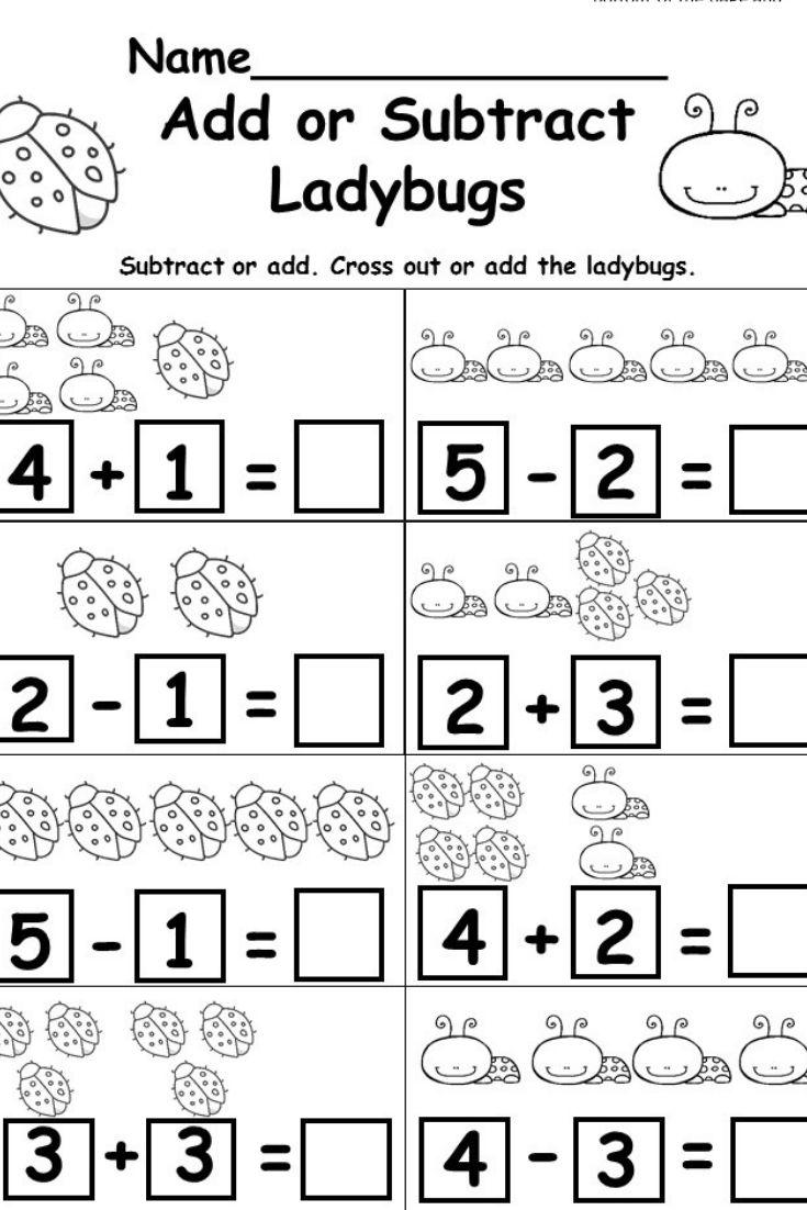 Spring Kindergarten Math Kindergarten math worksheets