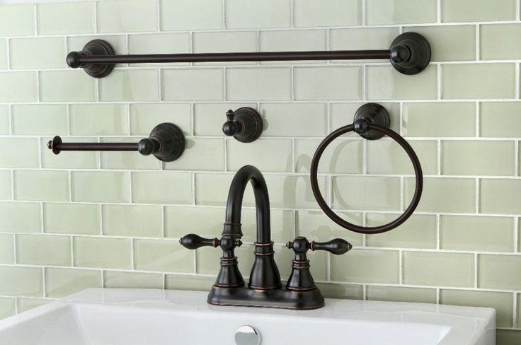 Classic High Spout Oil-rubbed Bronze Bathroom Faucet And Bathroom Accessory Set #KingstonBrass