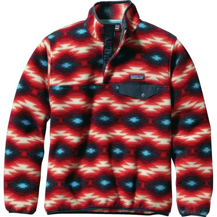 Patagonia - Synchilla Lightweight Snap-T Fleece Pullover - Women's - Wild Desert/Classic Red