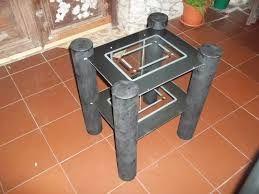 Resultado de imagen de mesa con tubos de carton