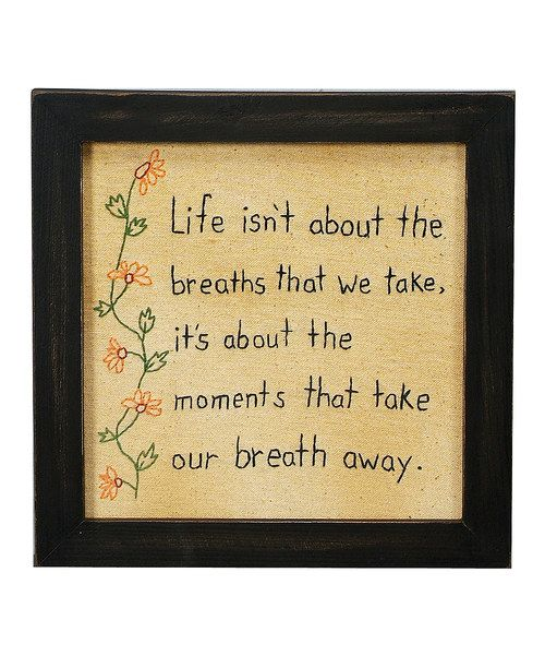 Look at this 'Breaths That We Take' Framed Wall Art on #zulily today!