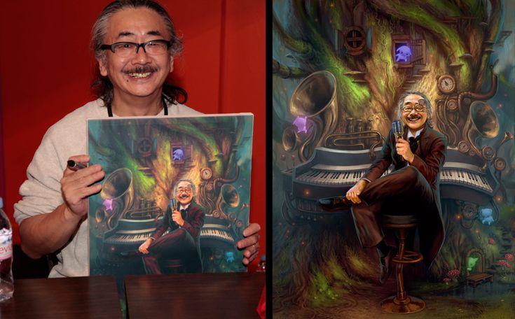 Portrait of Nobuo Uematsu by randis on deviantART