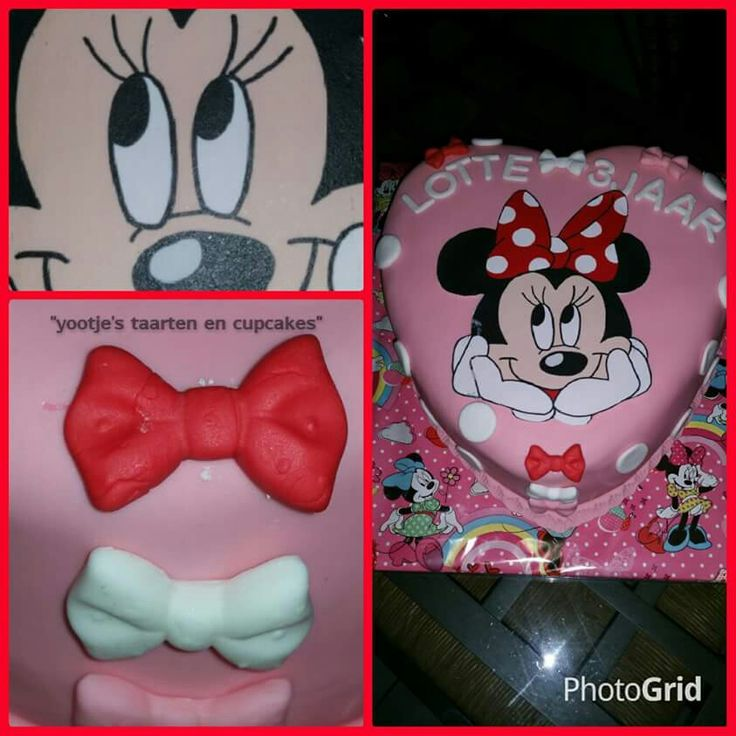 Minnie Mouse hart taart