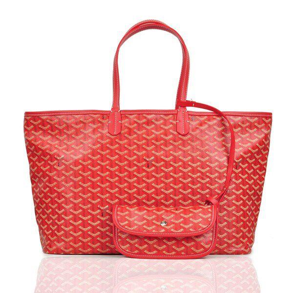 Goyard St Louis GM Red Tote Bags