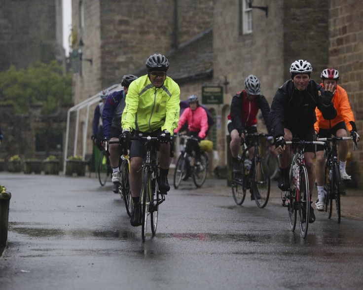 Yorkshire Pedalthon 2014 - leaving Ripley Castle