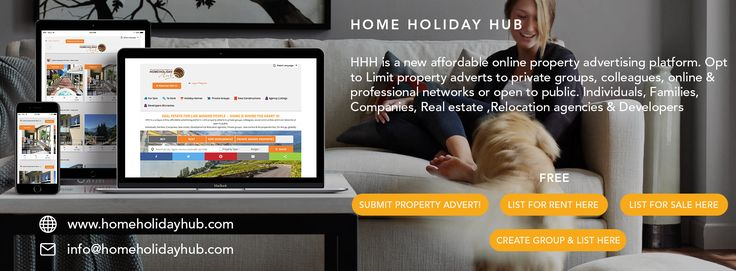 Exciting new Real estate for trust communities platform www.homeholidayhub.com. Go to the website's Private groups and create your own group and advertise for rent your property to groups of like minded people. Work colleagues, online communities, social networks & more - FREE Adverts. Invite as many people as you can globally and create cheap global holidays within communities.