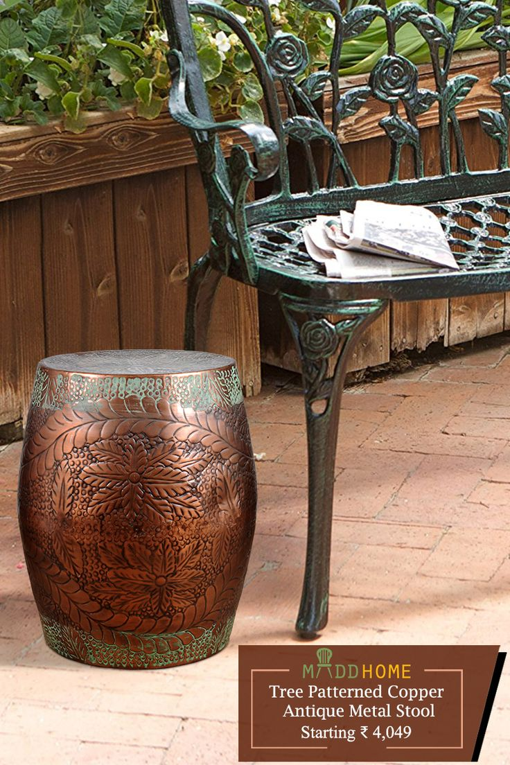Add a bit of class to your space with this heavy duty cast iron furniture.