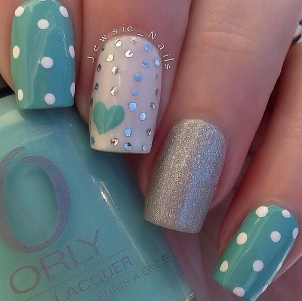 Aqua nails :), not sure if I have pinned this or not!