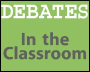 Debates in the Classroom - great resource for setting up debates, including links for rules, rubrics, topics, lesson plans, and strategies.