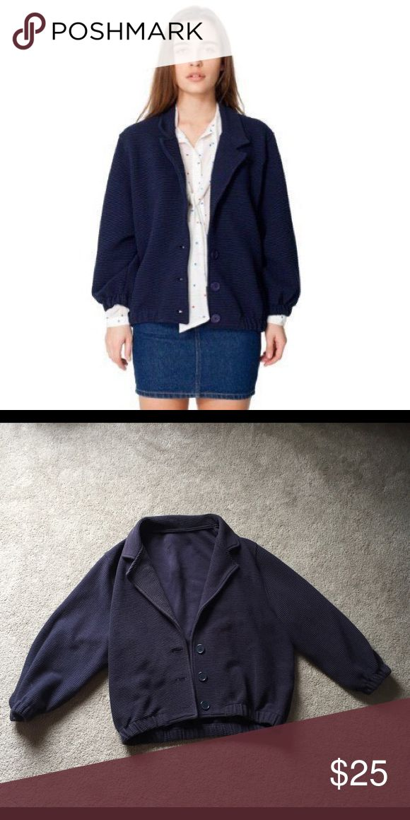 American Apparel Ribbed Navy Ottoman Jacket Wornonly a few times and in great condition!! American Apparel Jackets & Coats