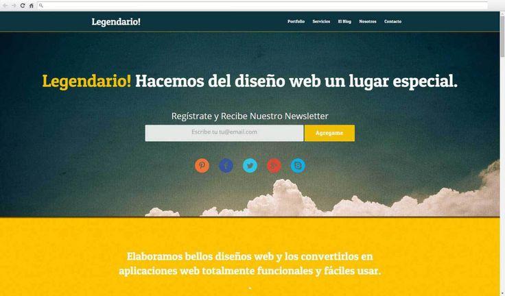 Legendario - Plantillas Web Gratis - Diseño web, diseño de páginas web mexico, disenoweb.pro